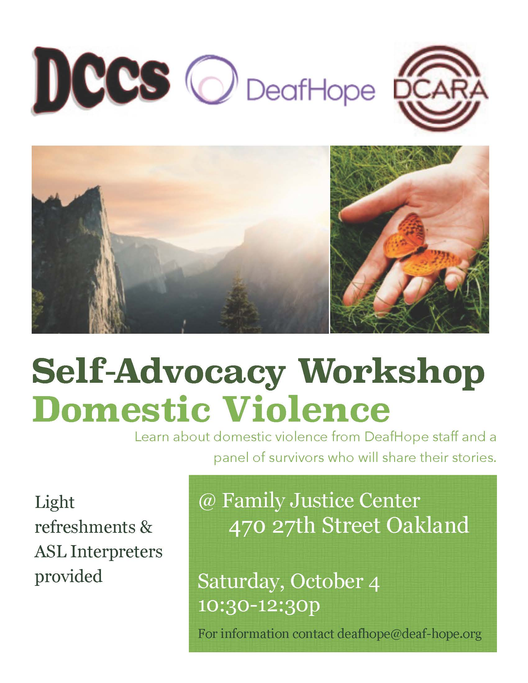 DV workshop flyer