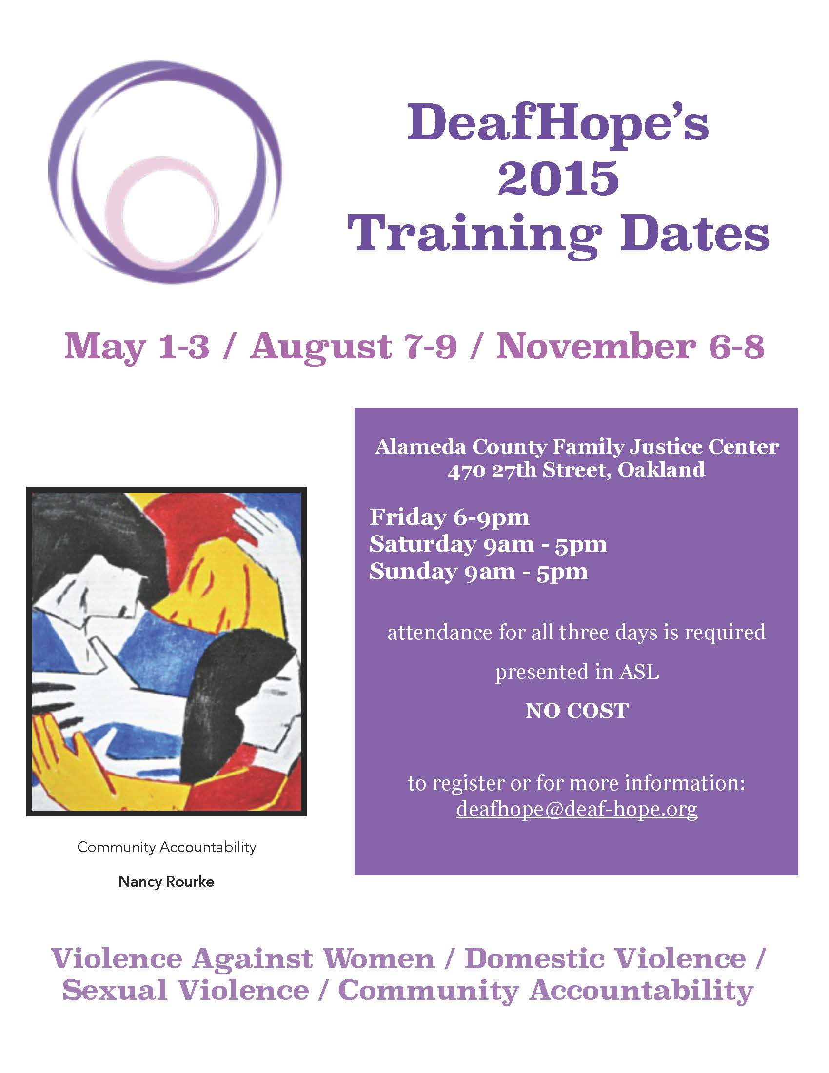 2015 Training Flyer