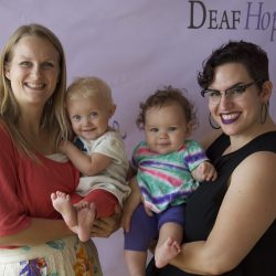 Our fantastic speaker Elena and Tara with their adorable children.  They brought such a sweet energy to the Tea Party!